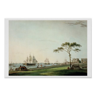 View Taken on the Esplanade, Calcutta, plate I fro Poster