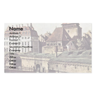 View The Fortifications Of Dresden In Dresden Moat Business Cards