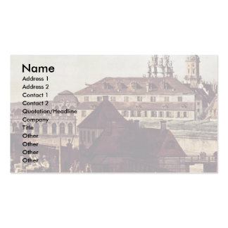 View The Fortifications Of Dresden In Dresden Moat Business Card Template