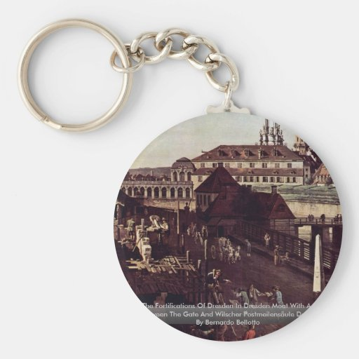 View The Fortifications Of Dresden In Dresden Moat Key Chain