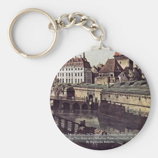 View The Fortifications Of Dresden In Dresden Moat Keychain