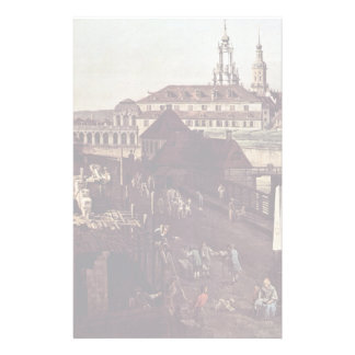 View The Fortifications Of Dresden In Dresden Moat Custom Stationery