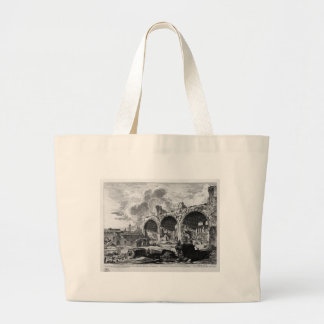 View the remains of Nero`s Golden House Tablino Large Tote Bag