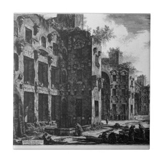 View the remains of the Baths of Diocletian Tile
