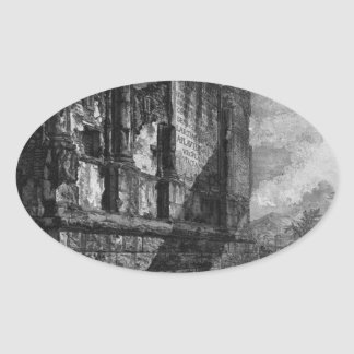 View the remains of the tomb of the Family Oval Sticker