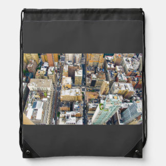 View Themed, Top View Of A City With Several Concr Drawstring Backpack