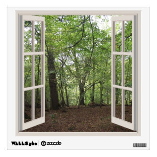 View Through A Window To A Wood V2 Wall Decal