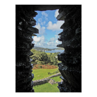 View Through the Castle Window Poster
