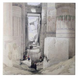 "View through the Hall of Columns, Karnak, from ""Eg Ceramic Tile"