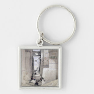 """View through the Hall of Columns, Karnak, from """"Eg Key Chains"""