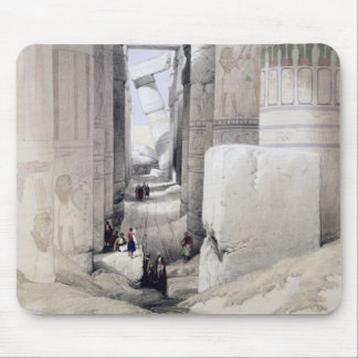 """View through the Hall of Columns, Karnak, from """"Eg Mouse Pad"""