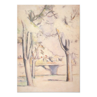 View Thru the Trees by Paul Cezanne, Vintage Art Card