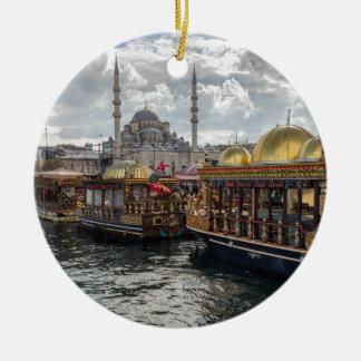 View to Istanbul (Turkey) Ceramic Ornament