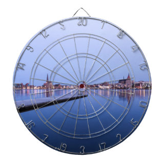View to Rostock at night Dart Boards