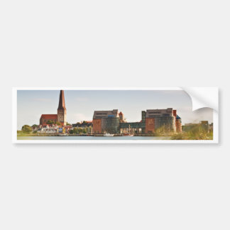 View to Rostock in Germany. Bumper Sticker
