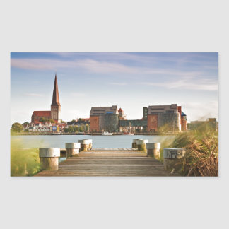 View to Rostock in Germany. Rectangular Sticker