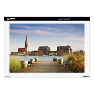 View to Rostock in Germany. Decal For Laptop