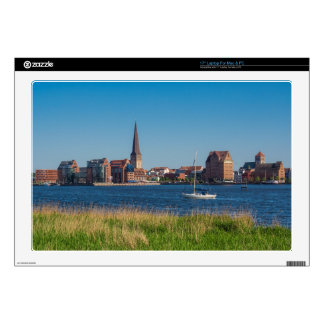 View to Rostock in Germany Laptop Decals