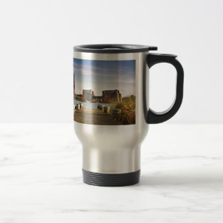 View to Rostock in Germany. Travel Mug
