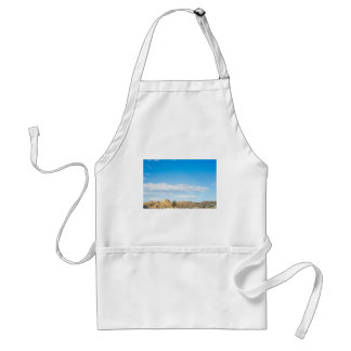 View to the mountain and sky adult apron