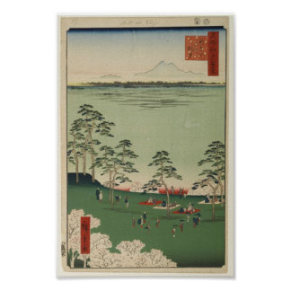 View to the North from Asukayama Posters