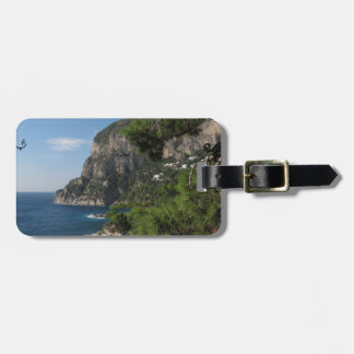 View toward the cliffs on Capri island Tag For Luggage