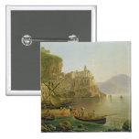 View Towards Atrani on the Amalfi, 1817 2 Inch Square Button