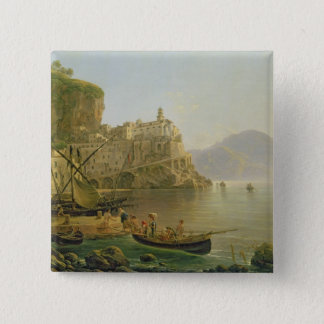 View Towards Atrani on the Amalfi, 1817 Button