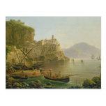 View Towards Atrani on the Amalfi, 1817 Postcard