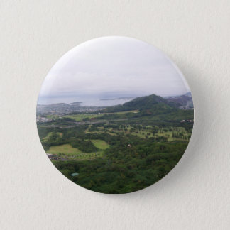 view towards k-bay from pali lookout pinback button