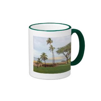 View towards Maalaea Bay from Kihei, Maui Ringer Coffee Mug