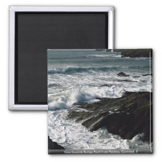 View towards Rumps Point from Pentire, Cornwall, E Fridge Magnet