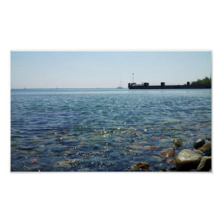View towards the Sea of Marmara from the beach. Poster