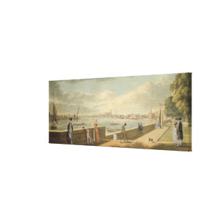 View towards Westminster from the Terrace Canvas Print