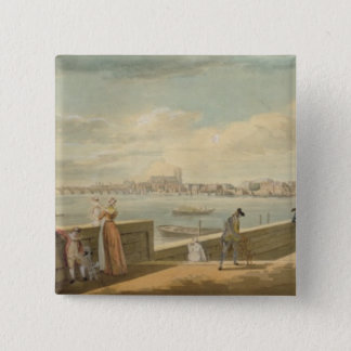 View towards Westminster from the Terrace Pinback Button