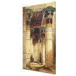 View under the Grand Portico, Philae Canvas Print