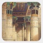 View under the Grand Portico, Philae Square Sticker