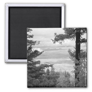 View west from crest of Sandia, Mountains, 2 Inch Square Magnet