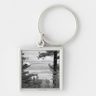 View west from crest of Sandia, Mountains, Keychain