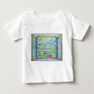 view window of island tee shirt
