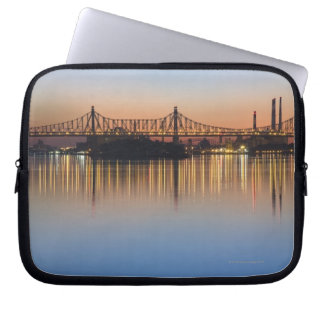Viewed from Manhattan over the East River. Laptop Computer Sleeves