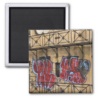Viewed From the High Line: Graffiti on a Building Refrigerator Magnet