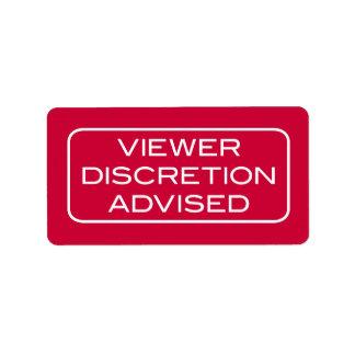Viewer DIscretion Advised Dark Label