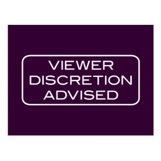 Viewer DIscretion Advised Dark Postcard