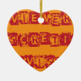 Viewer Discretion Advised Grunge vector Ceramic Ornament
