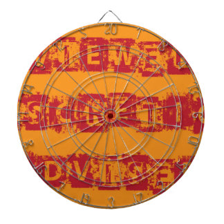 Viewer Discretion Advised Grunge vector Dartboard With Darts