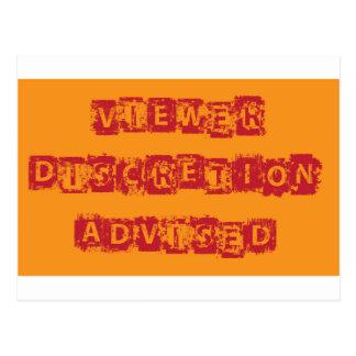 Viewer Discretion Advised Grunge vector Postcard