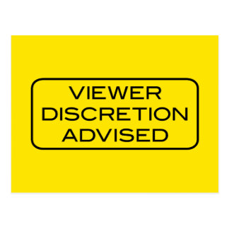 Viewer DIscretion Advised Light Postcard