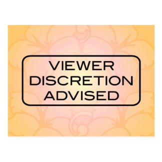 Viewer DIscretion Advised Postcard