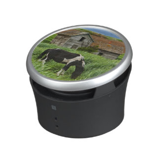 Viewing horses in a field in the Palouse 2 Bluetooth Speaker